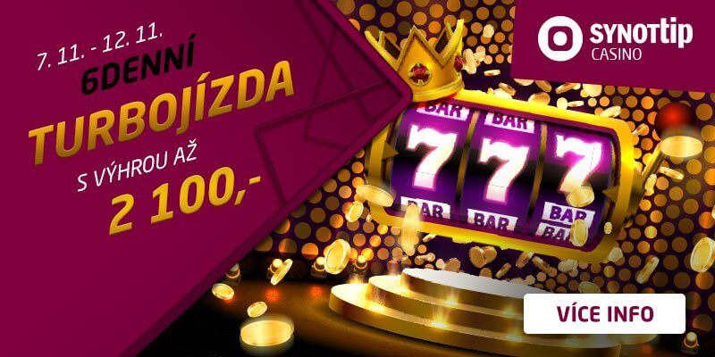 Turbo bonus v Synot TIP casinu 2100BB
