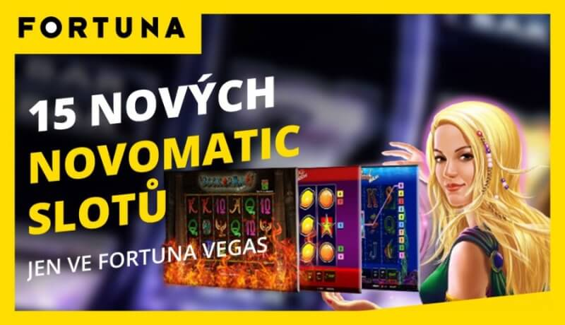 Novomatic hry ve Fortuna Vegas kasinu