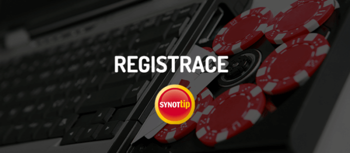 Synot Tip - registrace