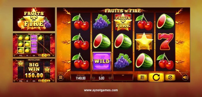 Synot games - online casino - Fruit Awards a Fruits'N'Fire