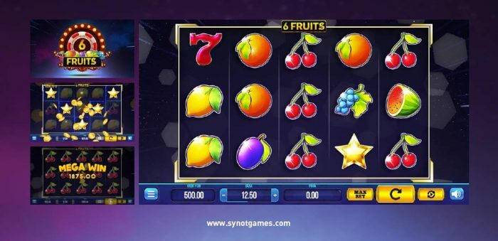 Synot games - online casino - flip the chip + 6 fruits
